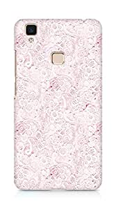 Amez designer printed 3d premium high quality back case cover for Vivo V3 Max (pink lace)
