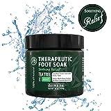 Therapeutic Foot Soak - Epsom, Dead Sea Salt, MSM & Tea Tree Oil. Fight Toenail Fungus, Relieve Aches & Pains, Sore Feet & Muscles, Arthritis & Itchy Feet. Natural & Organic Bath Salts - 16oz