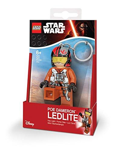 Ufficiale di LEGO Star Wars Episodio VII Poe Dameron Key luce LED portachiavi portachiavi