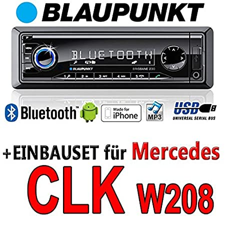 Mercedes cLK w208 brisbane bLAUPUNKT - 230/mP3/uSB avec kit de montage autoradio avec bluetooth