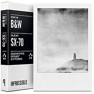 Impossible - 2784 - pellicule noir et blanc pour Appareil Polaroid type SX70 - cadre blanc - 8 feuilles par boîte