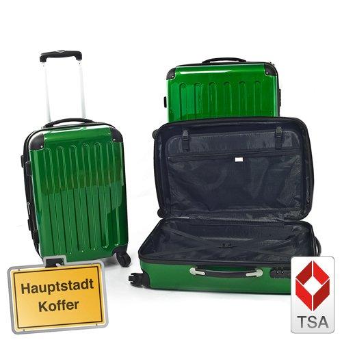 Reisekofferset 3er, Trolleyset, Kofferset, Grün