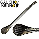 Gaucho Bruno Yerba Mate Starter Kit Glass Mate Cup Natural Shape With Bombilla