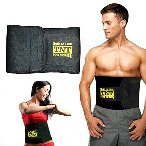 TNT Waist Trimmer Weight Loss Ab Belt – Premium Stomach Wrap and Waist Trainer, 9″ W x 44″ L, Original
