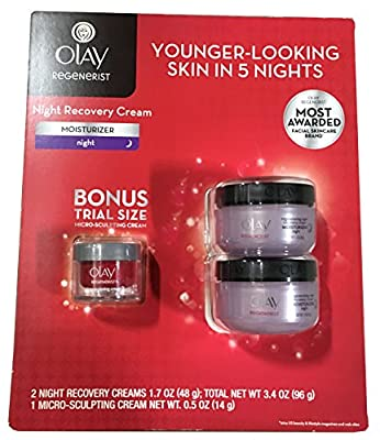 Olay Regenerist Regenerating Night Recovery Moisturizer Cream, 1.7 Ounces