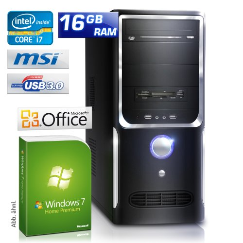 CSL Speed H4720 - Core i7-3770 4x 3400 MHz, 16 GB RAM, 1000 GB HDD, GeForce GT 610, DVD-RW, CardReader, Gigabit LAN, USB 3.0, Win7HP, Office 2010