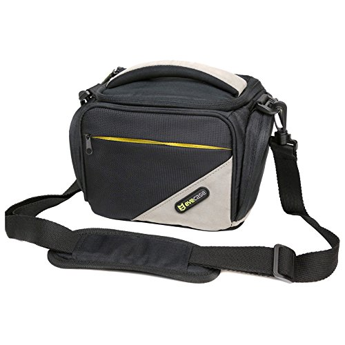 Evecase Universal Black Medium DSLR Camera Travel Case/Bag with Strap for Sony DSC-RX10/ RX10 III, A7, A7 II, A7R, A3000, A77, A99, A65, A57, A58, A37, A55, A33, A390, A580, A560 SLR Cameras (A7 Mark Ii Case Black compare prices)