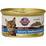 Hill's Science Diet Adult Optimal Care Savory Seafood Entree Minced Cat Food, 3-Ounce Can, 24-Pack