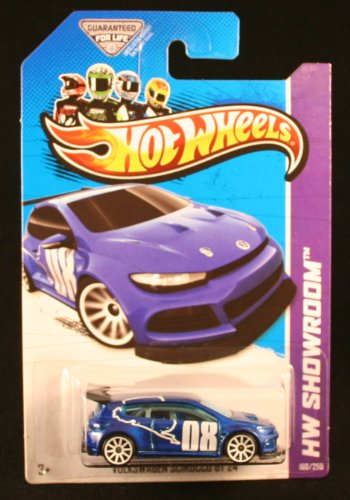 VOLKSWAGEN SCIROCCO GT 24 (BLUE) * HW SHOWROOM / ASPHALT ASSAULT * 2013 Hot Wheels Basic Car 1:64 Scale Series * Collector #160 of 250 * - 1
