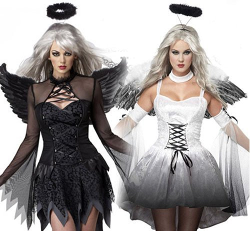 Halloween Mummy bridal ghost ghosts Devil Angel costume role play fun uniforms, white _ are