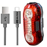 SUPER BRIGHT Bike Light USB Rechargeable Rear Tail Light. Blitzu X1 High Intensity RED LED Accessories Fits on any Bicycles, Helmets, Waterproof. Easy To install for Cycling Safety Flashlight