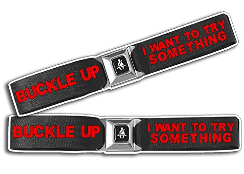 Buckle Up Belt I Want To Try Something Stunt Decal Sticker