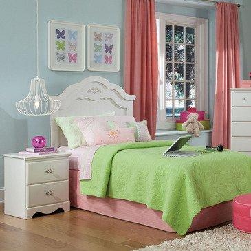 Standard Furniture Daphne 2 Piece Headboard Bedroom Set in White