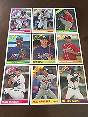 2015 Topps Heritage Minors Atlanta Braves Team Set No SP 9 Cards Ozhaino Albies