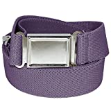 Jackster Elastic Adjustable One Size Belt w/ Magnetic Metal Buckle (Lilac)