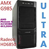 "ULTRA Gamer PC AMD Phenom II X4 955BE 4X3,2GHz Radeon HD 6850 DVD-RW 1000GB-HDD 8GB-Ram, CrossFire, RAID, HDMI, Gigabit Lan, DDR3-1333 Dual, 7.1von ""AMX Mediensysteme"""