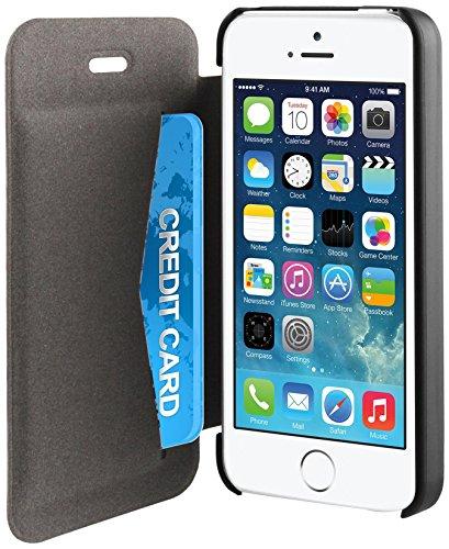 muvit iPhone 5 / 5S Easy folio Card case Black Picture