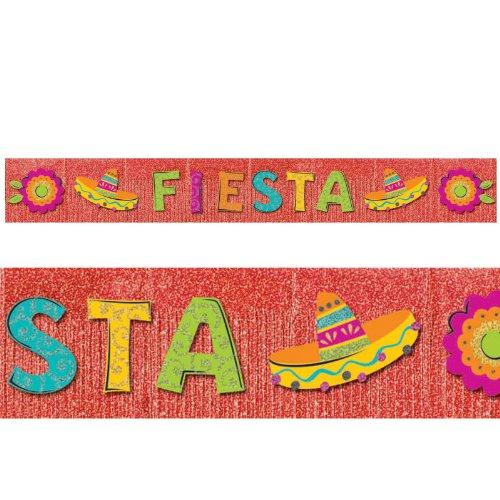 Amscan - 10' Fiesta Giant Glitter Fringe Banner