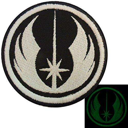 Visibile al Buio Star Wars Jedi Order Embroidered Velcro Toppa Patch