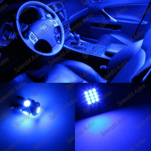 Splendid Autos Ultra Blue LED Mazda Protege 5 Interior Package Deal 2002-2003 (6 Pieces) (Mazda Protege 5 Interior Lights compare prices)