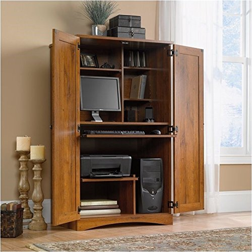 Sauder Harvest Mill Computer Armoire, Abbey Oak Finish (Computer Cabinets compare prices)