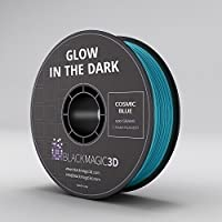 PLA Glow in the Dark Cosmic Blue 3D Printing Filament, 1.75 mm from Black Magic 3D