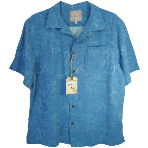 Margaritaville Men'S Leaf Garden BBQ Shirt, Adriatic Blue, Medium