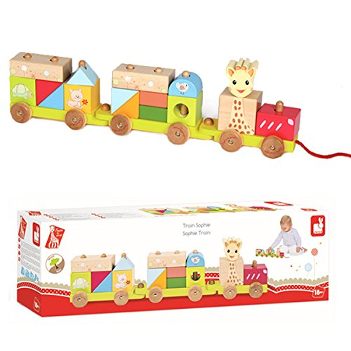 Vulli Train Toy, Sophie the Giraffe - 1