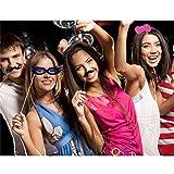 TinkSky-60Pcs-DIY-Photo-Booth-Atrezzo-Favorecer-Incluyendo-Bigotes-Gafas-Pelo-Arcos-Sombreros-labios-spajaritas-coronas-para-el-partido-boda-cumpleaos-del-favor-de-la-graduacin