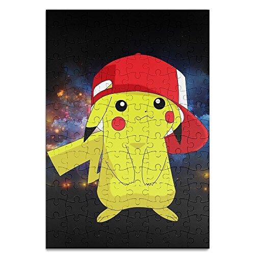 Ang-Lee86 Funny Pokemon Pocket Monster Pikachu Baby Climbing Clothes Bodysuit Game Puzzle White