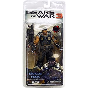 NECA Gears of War 3 Series 1 Action Figure Marcus Fenix Retro Lancer