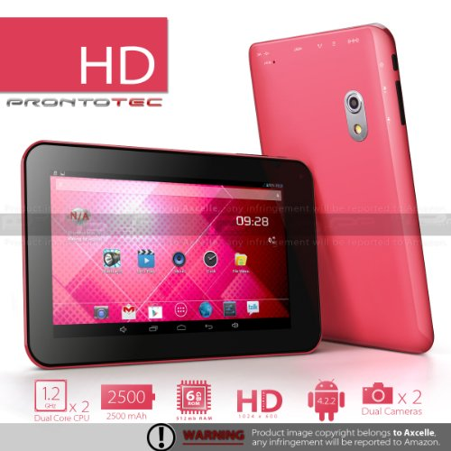 ProntoTec 7 Inch HD 1024x600 Pixels Android Tablet PC ...