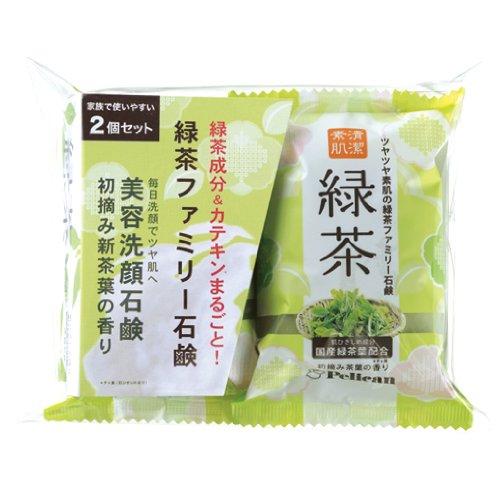 ペリカン ファミリー緑茶石鹸 80gX2個