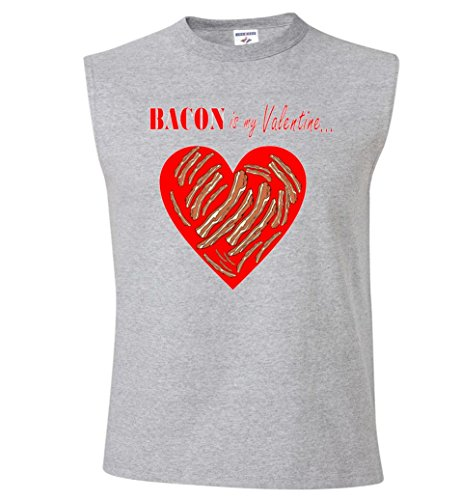 Bacon Is My Valentine Funny V-Day Sleeveless T-Shirt