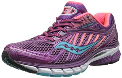 Saucony Women's Ride 6 Running Shoe,Berry/Coral/Blue,5 M US