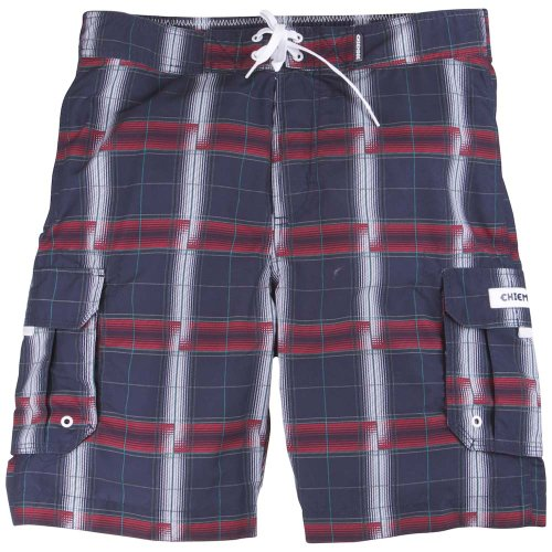 Chiemsee 14010-101 Men's Boardshorts Enzo Flower AOP -  S,  Square Navy Blue