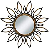 "Urban Designs Sunburst Flare 34"" Round Metal Wall Mirror"