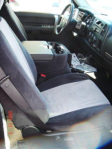Durafit Seat Covers C1127-V1/V7 - Chevy Truck/Pickup Silverado, Avalanche and GMC Sierra LT 40/20/40 Custom Black/Gray Automotive Velor Seat Covers. (Silverado Custom Console compare prices)