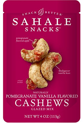 Sahale Snacks Pomegranate Vanilla Flavored Cashews Glazed Mix, 4 Ounce (Pack of 6) (Organic Trail Mix Snack Packs compare prices)