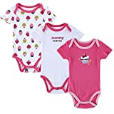 POPPINS Baby Girl's, Baby Boy's Sleepsuit for 3-6 months (Pack of 3)