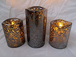 Ashland Halloween Black 3 pc Candle Set of Battery Operated Pillar Candles