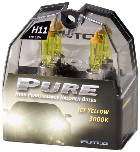 Putco 230011Jy Premium Automotive Lighting Jet Yellow Halogen Headlight Bulb