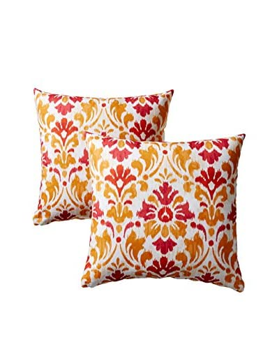 Colorfly by Belle Masion Set of 2 Sasha Pillows, Multi