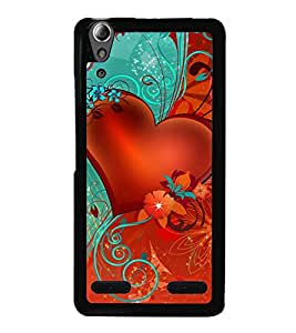 printtech Heart Floral flowers Back Case Cover for Lenovo A6000 Plus