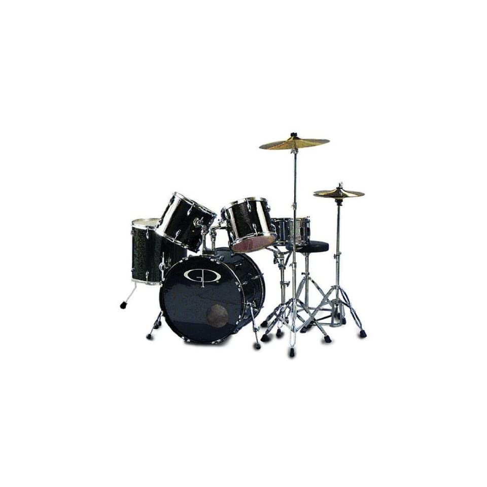 GP Percussion Performer 5 Piece Full Size Drum Set