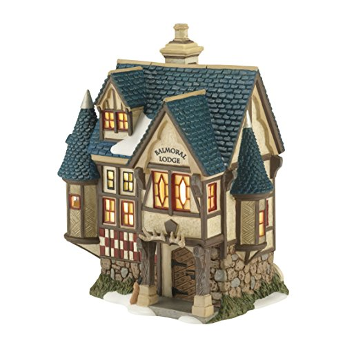 Department 56 Dickens Village Balmoral Lodge Lit House, 7.1-Inch (Ceramic Village Houses compare prices)