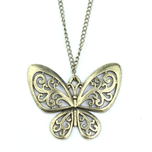 Lingstar(TM) Retro Classic vintage Bronze butterfly