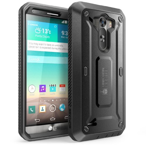 Supcase Lg G3 Case - Unicorn Beetle Pro Series Full-Body Hybrid Protective Case With Built-In Screen Protector (Black/Black), Dual Layer Design/Impact Resistant Bumper Prime