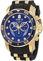 Invicta Men's 6983 Pro Diver Collection Chronograph Blue Dial Black Polyurethane Watch from Invicta