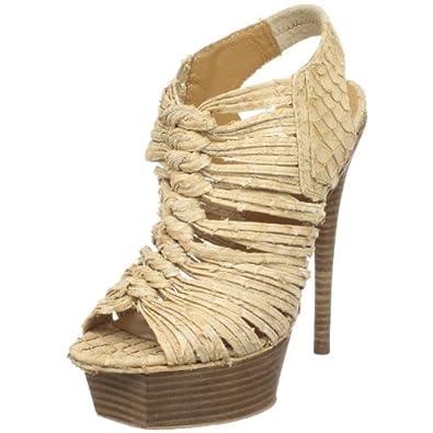 L.A.M.B. Women's Charisma Sandal,Natural Suede,9.5 M US